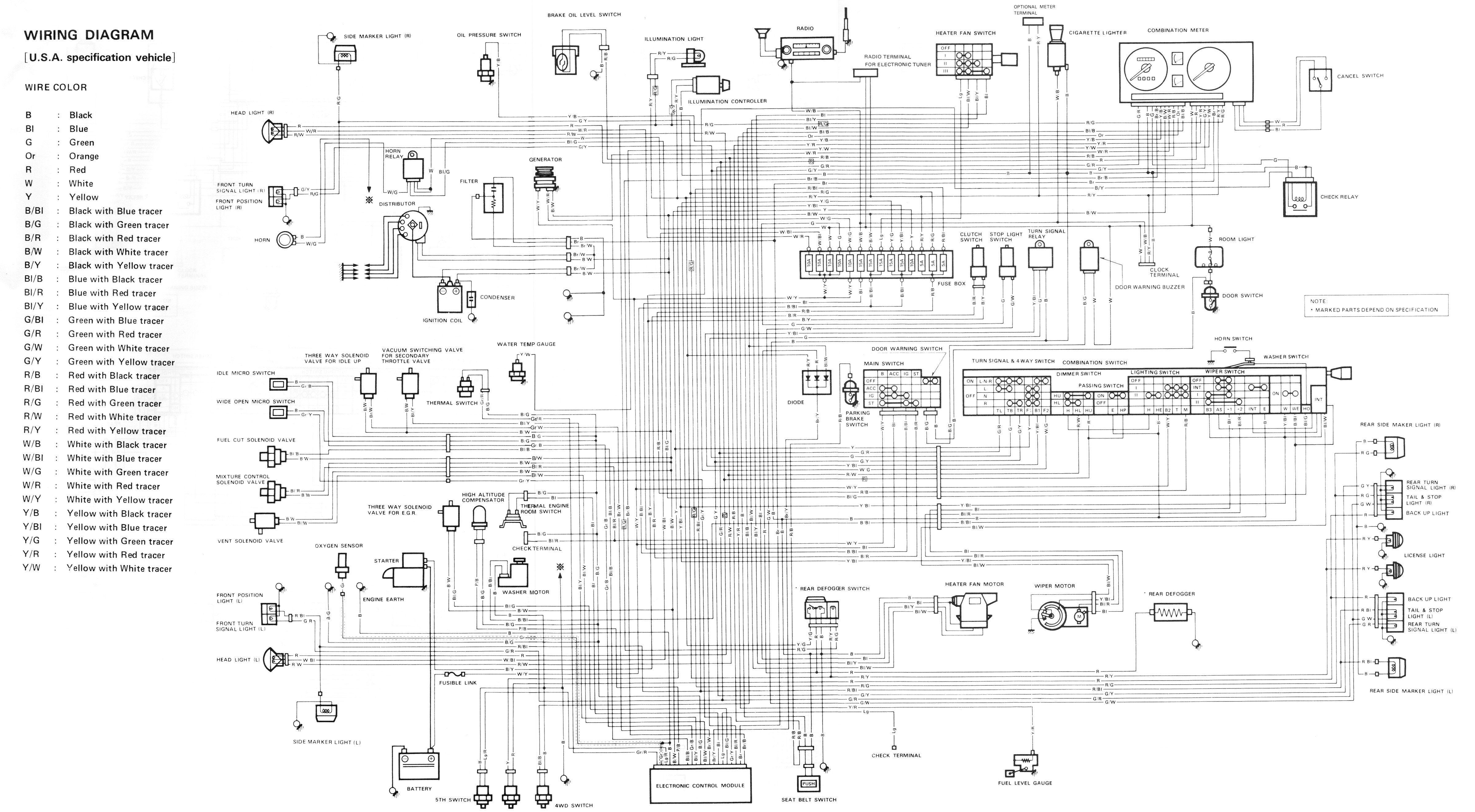samurai complete wiring diagram (carbureted model)