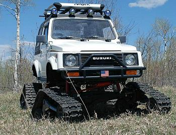 1987 Suzuki Samurai On Tracks