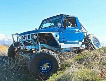 1987 Suzuki Samurai Blue Trail Slayer